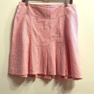 Bill Blass striped gingham skirt